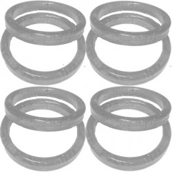 19g CLEAR PLASTIC BANGLE WEIGHT 100CT (BULK 10 BAGS)