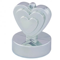 SILVER SINGLE HEART WEIGHTS 110g 12CT