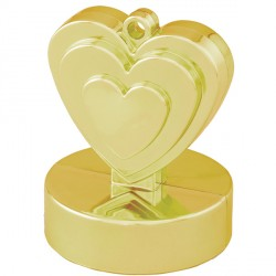 GOLD SINGLE HEART WEIGHTS 110g 12CT