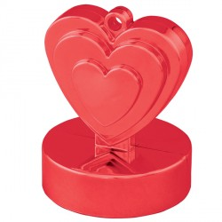 RED SINGLE HEART WEIGHTS 110g 12CT