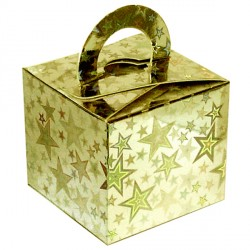 GOLD HOLO STARS BOUQUET BOX 10CT