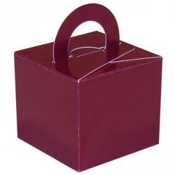 BURGUNDY BOUQUET BOX 10CT