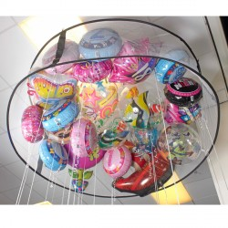 EASY POP UP BALLOON CORAL 6ft DIAMETER CIRCLE WITH 2ft MESH FABRIC