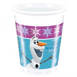 DISNEY FROZEN PLASTIC CUPS (8CT X 24 PACKS)