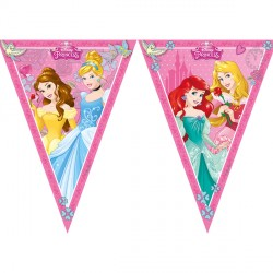 DISNEY PRINCESS TRIANGLE FLAG BANNER (1CT X 24 PACKS)
