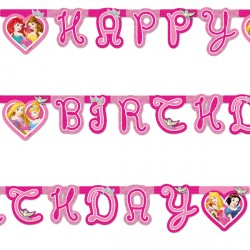 DISNEY PRINCESS BIRTHDAY BANNER (1CT X 12 PACKS)