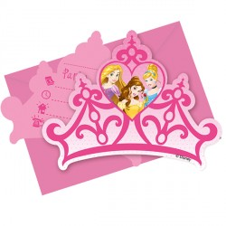 DISNEY PRINCESS INVITATIONS & ENVELOPES (6CT X 24 PACKS)