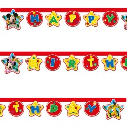 MICKEY MOUSE BIRTHDAY BANNER (1CT X 12 PACKS)
