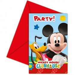 MICKEY MOUSE INVITATIONS & ENVELOPES (6CT X 24 PACKS)