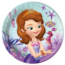 SOFIA THE FIRST PAPER PLATES (8CT X 25 PACKS)