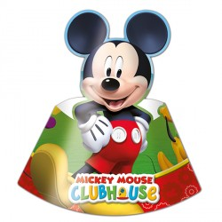 MICKEY MOUSE PARTY HATS (6CT X 24 PACKS)