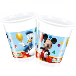 MICKEY MOUSE PLASTIC CUPS (8CT X 24 PACKS)