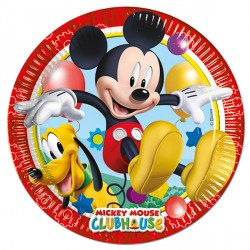 MICKEY MOUSE PAPER PLATES (8CT X 25 PACKS)