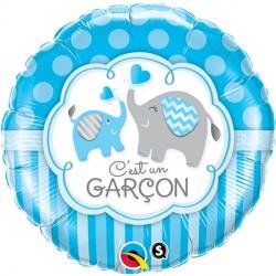 """C'EST UN GARCON ELEPHANTS 18"""" PKT (5CT)"""