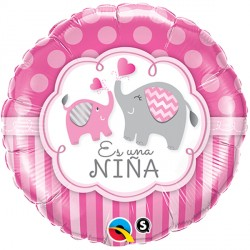 "ES UNA NIÑA ELEPHANTS 18"" PKT (5CT)"