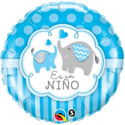 "ES UN NIÑO ELEPHANTS 18"" PKT (5CT)"