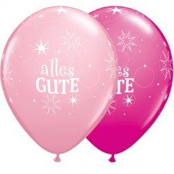 "ALLES GUTE SPARKLE 11"" PINK & WILD BERRY (50CT)"