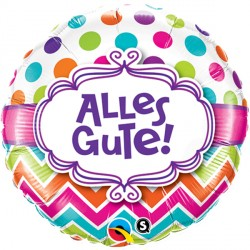 "ALLES GUTE! CHEVRON DOTS 18"" PKT (5CT)"