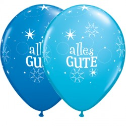 "ALLES GUTE SPARKLE 11"" DARK BLUE & ROBIN'S EGG (50CT)"