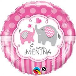 "É UMA MENINA ELEPHANTS 18"" PKT (5CT)"