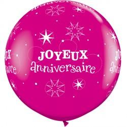JOYEUX ANNIVERSAIRE SPARKLE 3' WILD BERRY (2CT)