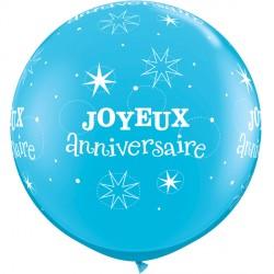 JOYEUX ANNIVERSAIRE SPARKLE 3' ROBIN'S EGG BLUE (2CT)