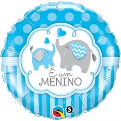 """É UM MENINO ELEPHANTS 18"""" PKT (5CT)"""