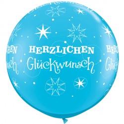 HERZLICHEN GLUCHWUNSCH SPARKLE-A-ROUND 3' ROBIN'S EGG BLUE