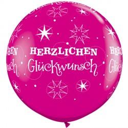 HERZLICHEN GLUCHWUNSCH SPARKLE-A-ROUND 3' WILD BERRY (2CT)