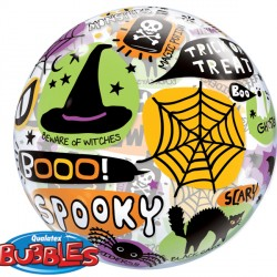 "HALLOWEEN MESSAGES & ICONS 22"" SINGLE BUBBLE"