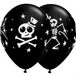 """DANCING SKELETON & TOP HAT 11"""" ONYX BLACK (25CT)"""