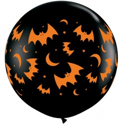 FLYING BATS & MOONS 3' ONYX BLACK (2CT)