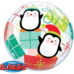 "PENGUINS & PRESENTS 22"" SINGLE BUBBLE"