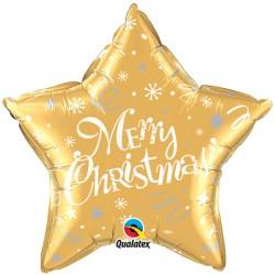 "MERRY CHRISTMAS! FESTIVE GOLD 20"" PKT"