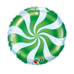 "CANDY SWIRL GREEN 9"" FLAT"