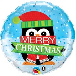 """MERRY CHRISTMAS PENGUIN 18"""" PKT"""