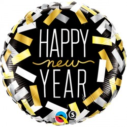 """NEW YEAR CONFETTI STRIPS 18"""" PKT"""