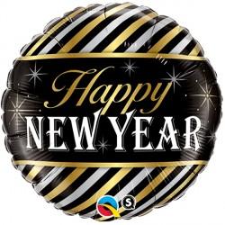 "NEW YEAR DIAGONAL STRIPES 18"" PKT"