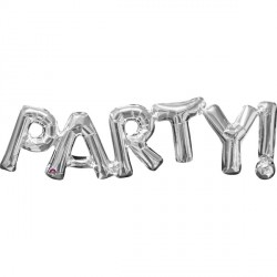 PARTY SILVER PHRASE SHAPE P35 PKT