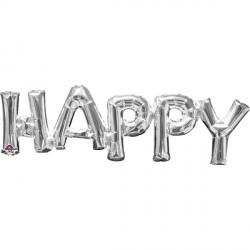 HAPPY SILVER PHRASE SHAPE P35 PKT