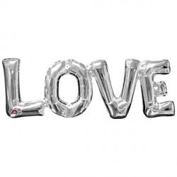 """LOVE SILVER BLOCK PHRASE SHAPE S55 PKT (25"""" x 9"""")"""