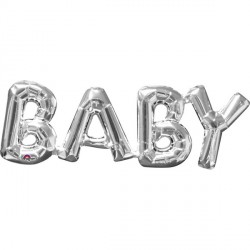 "BABY SILVER PHRASE SHAPE S55 PKT (26"" x 9"")"