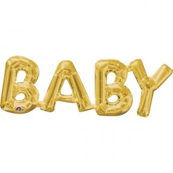 BABY GOLD PHRASE SHAPE P35 PKT`