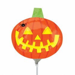 PUMPKIN WITH SPIDER MINI SHAPE A30 FLAT