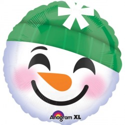SNOWMAN SMILEY FACE STANDARD S40 PKT