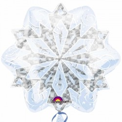 WHITE CHRISTMAS SNOWFLAKES JUNIOR SHAPE S40 PKT