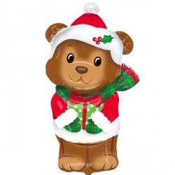 CHRISTMAS BEAR JUNIOR SHAPE S40 PKT