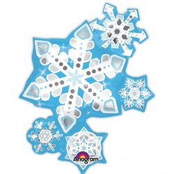 FROSTY SNOWFLAKES CLUSTER SHAPE P40 PKT