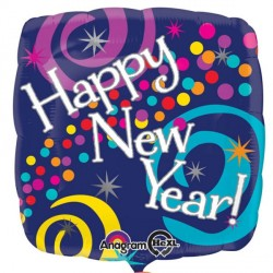 BRIGHT SWIRLS HAPPY NEW YEAR STANDARD S40 PKT