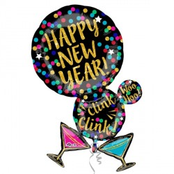 MARTINI BUBBLE HAPPY NEW YEAR SHAPE P30 PKT
